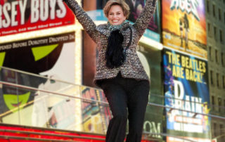 Cady Huffman in Times Square